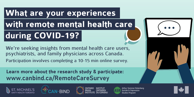 Recruitment ad for the Remote Mental Health Care during COVID-19 study